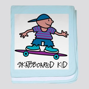 Skateboard Kid Infant Blanket
