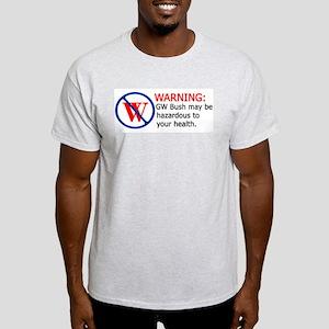 Bush Warning Ash Grey T-Shirt