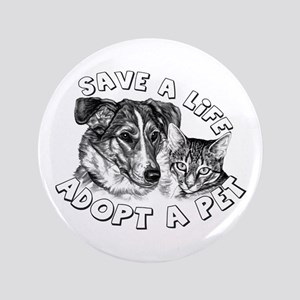 "Adopt a Pet 3.5"" Button"