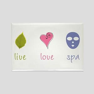 Live Love Spa Rectangle Magnet