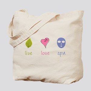 Live Love Spa Tote Bag