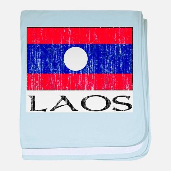 Laos Flag Infant Blanket