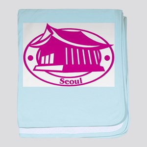 Seoul Passport Stamp Infant Blanket