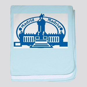 Madrid Passport Stamp Infant Blanket