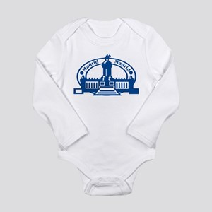 Madrid Passport Stamp Long Sleeve Infant Bodysuit
