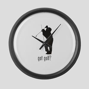 Golf 4 Large Wall Clock