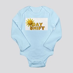 Day Shift Long Sleeve Infant Bodysuit