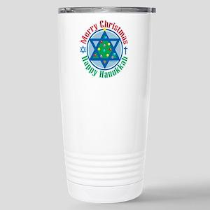 Christmas-Hanukkah Stainless Steel Travel Mug