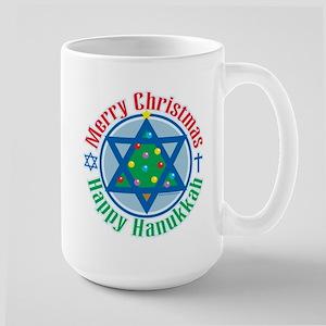 Christmas-Hanukkah Large Mug