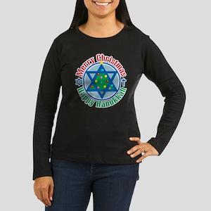 Christmas-Hanukkah Women's Long Sleeve Dark T-Shir