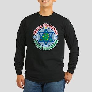 Christmas-Hanukkah Long Sleeve Dark T-Shirt