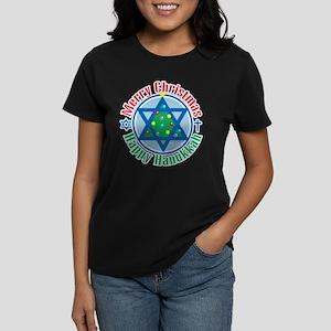 Christmas-Hanukkah Women's Dark T-Shirt
