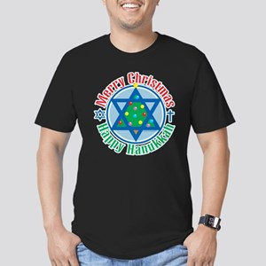 Christmas-Hanukkah Men's Fitted T-Shirt (dark)