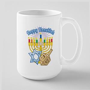 Happy Hanukkah Large Mug