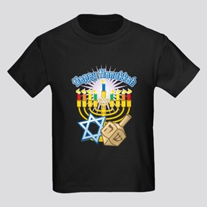 Happy Hanukkah Kids Dark T-Shirt