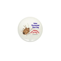 Stink Bug Mini Button (10 pack)