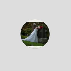 Bride Cry Husband Grave Mini Button