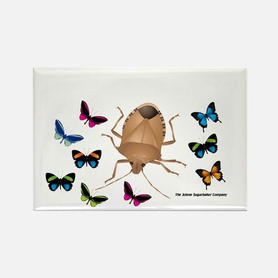 Stink Bug Rectangle Magnet