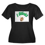 Stink Bug Women's Plus Size Scoop Neck Dark T-Shir