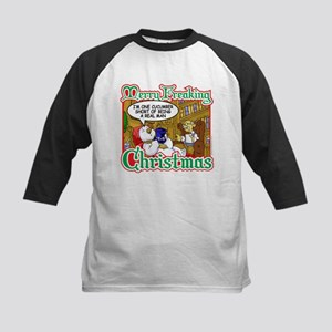 Snowman in Therapy Kids Baseball Jersey