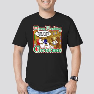 Snowman in Therapy Men's Fitted T-Shirt (dark)