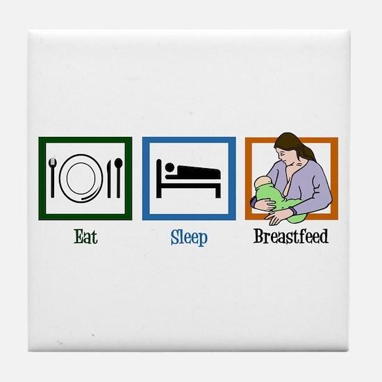 Eat Sleep Breastfeed Tile Coaster