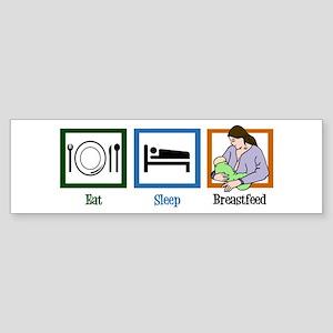Eat Sleep Breastfeed Sticker (Bumper)