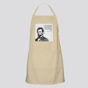 Abraham Lincoln Quote BBQ Apron