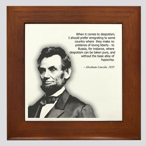 Abraham Lincoln Quote Framed Tile