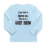 Goat Show Long Sleeve Infant T-Shirt