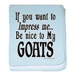 Goat Impress me Infant Blanket
