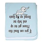 Goat Roundup Infant Blanket