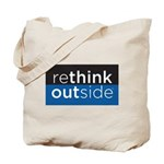 Rethink Outside (blue) Tote Bag
