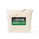 Rethink Outside (green) Tote Bag