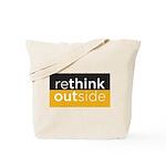 Rethink Outside (yellow) Tote Bag