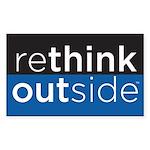 Rethink Outside (blue) Sticker