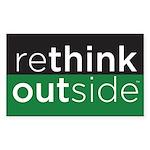 Rethink Outside (green) Sticker