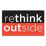 Rethink Outside (red) Sticker