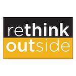 Rethink Outside (yellow) Sticker