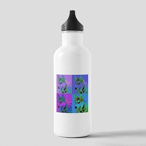 Op Art Siberian Husky Stainless Water Bottle 1.0L