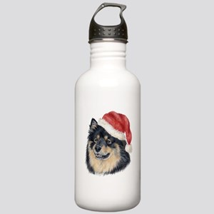 Christmas Finnish Lapphund Stainless Water Bottle