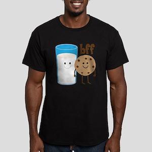 Milk & Cookies BFF Men's Fitted T-Shirt (dark)