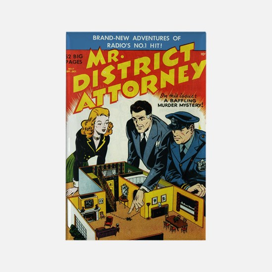 $4.99 Mr District Attorney Rectangle Magnet