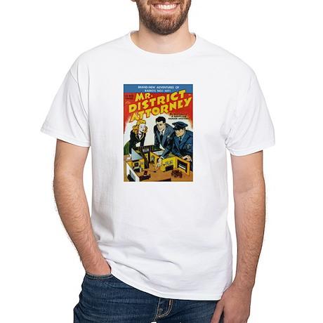 $19.99 Mr District Attorney White T-Shirt
