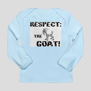 RESPECT the GOAT for Men Long Sleeve Infant T-Shir
