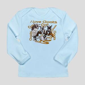 I love Goat Breeds Long Sleeve Infant T-Shirt