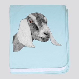 Nubian Goat Sketch Infant Blanket