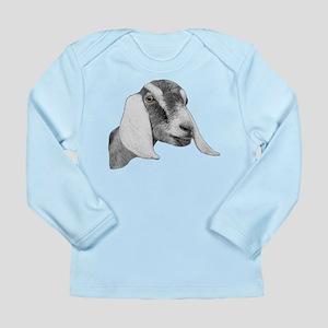 Nubian Goat Sketch Long Sleeve Infant T-Shirt