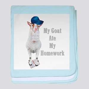 GOAT Ate Homework Infant Blanket