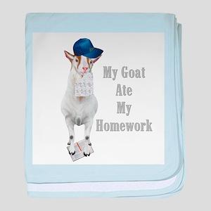GOAT Ate Homework Infant Blanket
